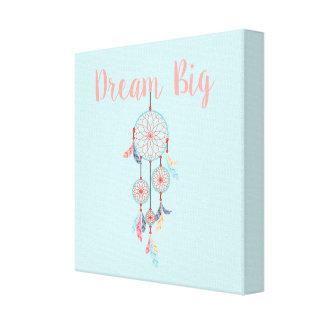 Dream Big Dreamcatcher Bohemian Dream Catcher Canvas Print