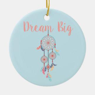 Dream Big Dreamcatcher Bohemian Dream Catcher Round Ceramic Decoration