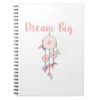 Dream-Big-Dreamcatcher-peach Notebook