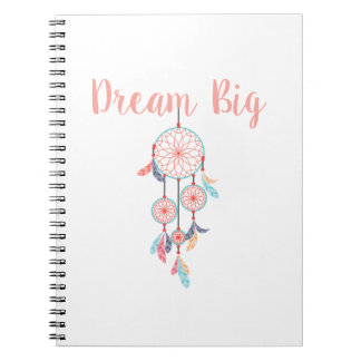 Dream-Big-Dreamcatcher-peach Notebooks
