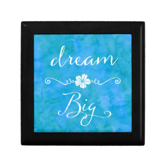 Dream Big Inspirational Happiness Quote Small Square Gift Box