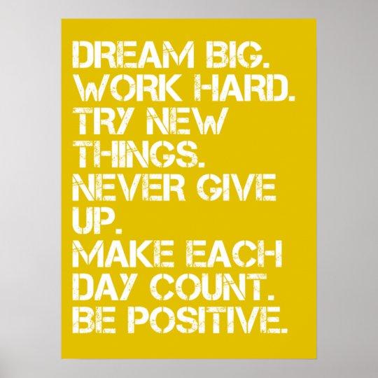 Dream Big - Inspirational Poster