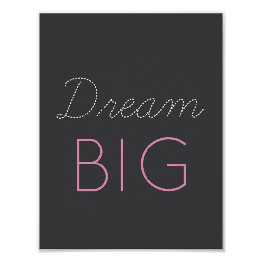 Dream Big - inspirational quote - art Poster