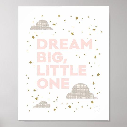 Dream Big, Little One Art Print in Blush