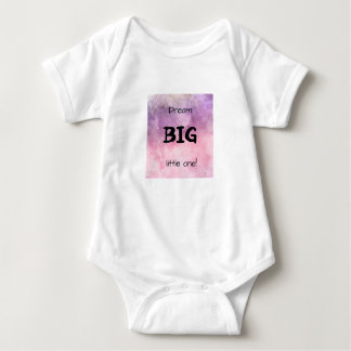 Dream BIG little one! Beautiful cosmic pink design Baby Bodysuit