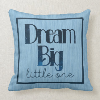 Dream Big Little One Blue Stars Pillow