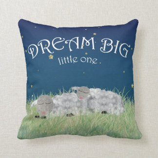 Dream Big Little One Cute Nursery Art Cushion