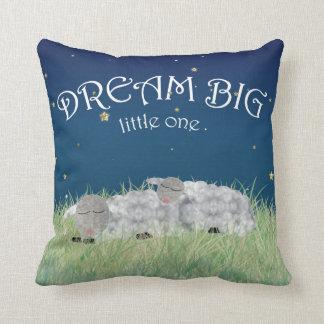 Dream Big Little One Cute Nursery Art Throw Pillow