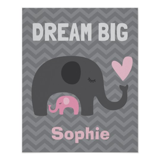 Dream Big Little One - Grey and Pink