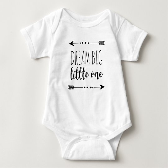 Dream Big Little One Heart Arrows Baby Bodysuit