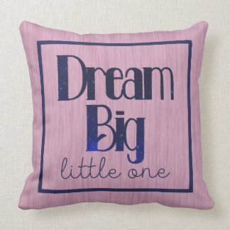 Dream Big Little One Pink Stars Pillow