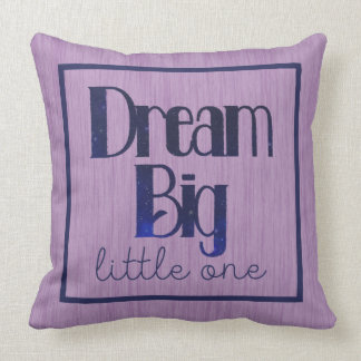 Dream Big Little One Purple Stars Pillow