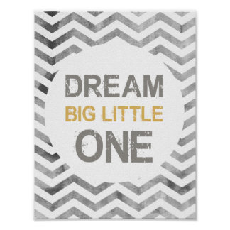 Dream big little one, Safari, Boy's room poster