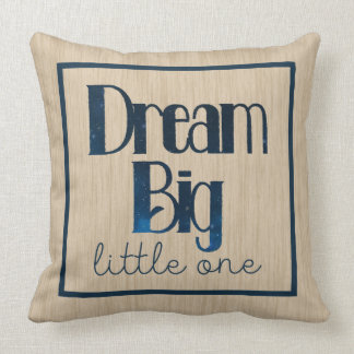Dream Big Little One Tan Stars Pillow