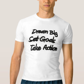 Dream Big Men's Fitness Compression Graphic Tee