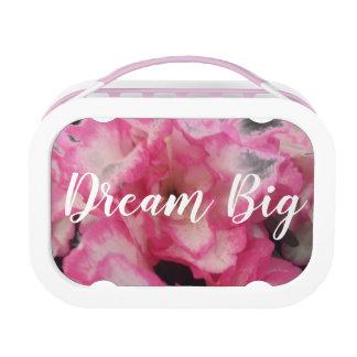 Dream Big Pink Floral lunchbox