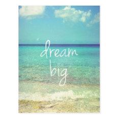 Dream big postcard at Zazzle