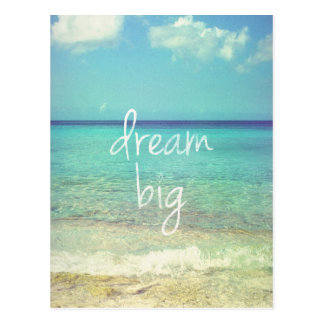 Dream big postcards