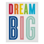 DREAM BIG QUOTE modern typography bright colours