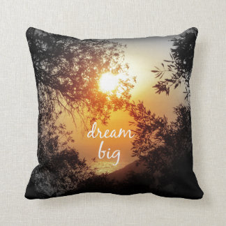 Dream Big Quote Throw Pillow