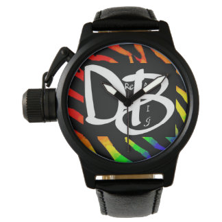 Dream Big Rainbow Zebra Print Watch 2