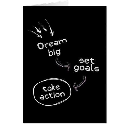Dream big set goal take action motivational quote