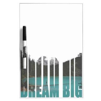 Dream Big Typography Dry Erase Board