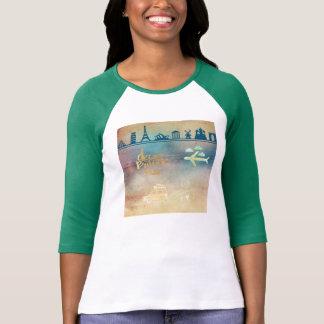 Dream big,vintage paper colorful,travel collage t shirt