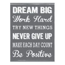Dream Big with a daily dose of inspiring products Postcard