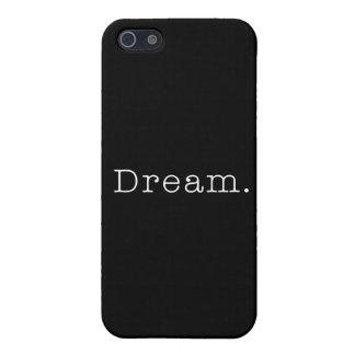 Dream. Black and White Dream Quote Template iPhone 5 Case