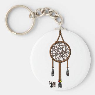 Dream Catcher Basic Round Button Key Ring