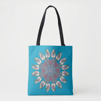 Dream catcher canvas tote bag