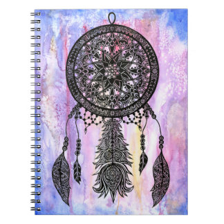 Dream Catcher Design w/ Watercolor Backdrop Notebooks