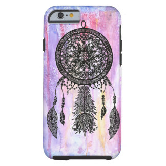 Dream Catcher Design w/ Watercolor Backdrop Tough iPhone 6 Case