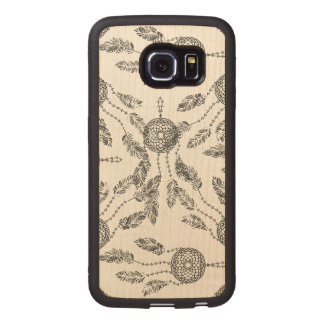 Dream Catcher Design Wood Phone Case