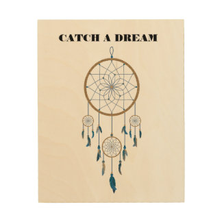 Dream Catcher Design Wood Wall Decor