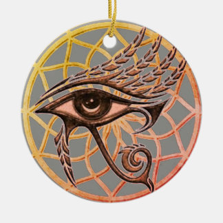 Dream Catcher Eye Of Horus Christmas Ornament