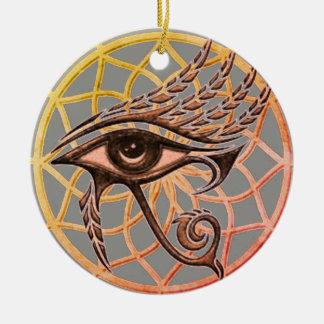 Dream Catcher Eye Of Horus Christmas Ornament