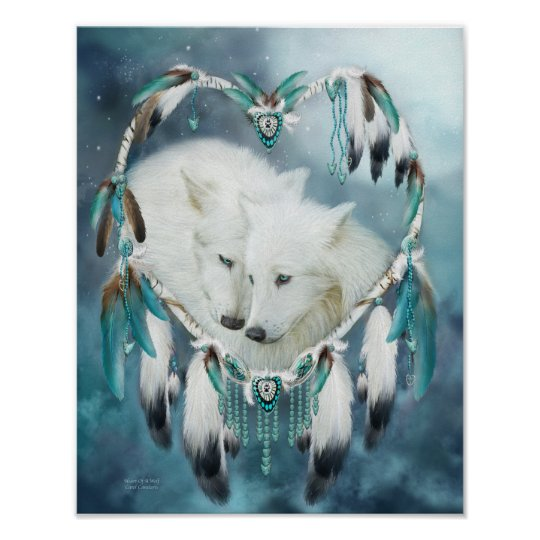 Dream Catcher - Heart Of A Wolf Art
