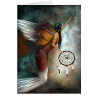 Dream Catcher Native American Angel Card