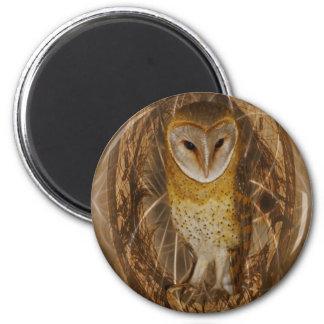 Dream catcher owl 6 cm round magnet