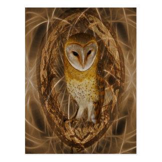 Dream catcher owl post card