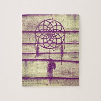 Dream Catcher Purple Wood Jigsaw Puzzle