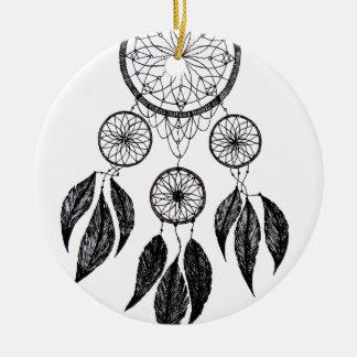 Dream Catcher Round Ceramic Decoration