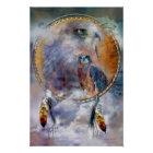 Dream Catcher Series - Spirit Hawk Poster/Print Poster