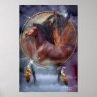 Dream Catcher Series - Spirit Horses Poster/Print Poster