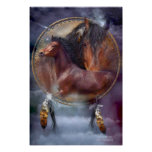Dream Catcher Series - Spirit Horses Poster/Print Poster