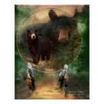 Dream Catcher Series-Spirit Of The Bear Poster