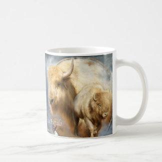 Dream Catcher Series -Spirit Of The White Buffalo Basic White Mug