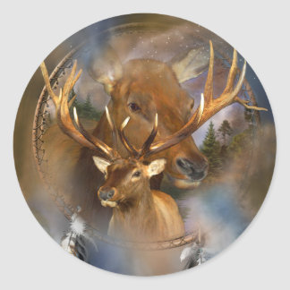 Dream Catcher - Spirit Of The Elk Sticker